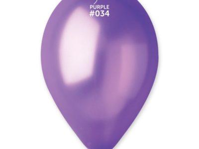 Kummist õhupall metalli läikega lilla (34)