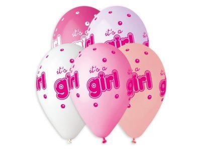 Õhupallid Its a girl 5tk, 33cm