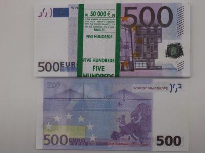 Raha 500eurosed