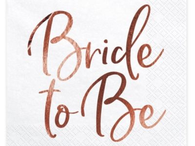 Salvrätikud Bride to be 20tk