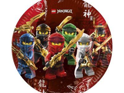 Lego ninjago papptaldrikud 8tk 23cm